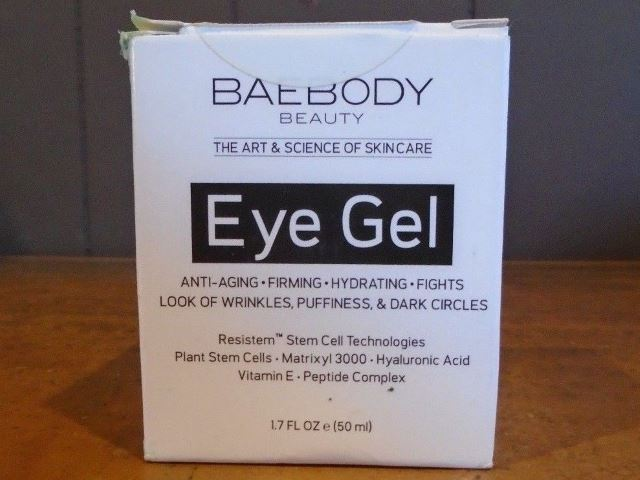 Baebody eye gel review box