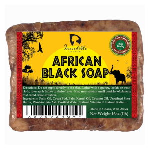 Incredible by nature African black soap