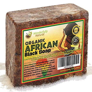 Wonderfully natural organic African black soap-bar
